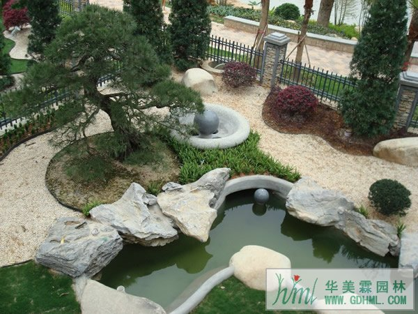 日式别墅园林设计-华美霖东莞园林公司