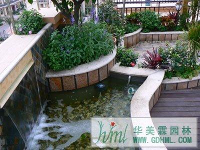 屋顶花园设计案例-华美霖东莞园林公司