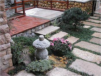园林工程案例 别墅庭院