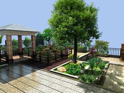 别墅花园设计案例-华美霖深圳绿化公司